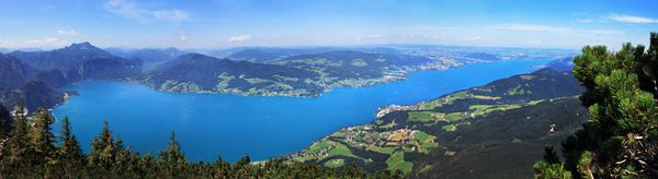 Attersee Panoramaaufnahme
