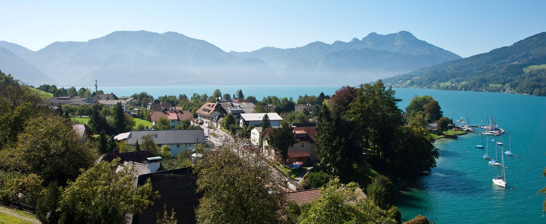 Ort am Attersee Panoramablick